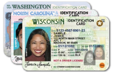 Ejemplo de tarjeta de identificación