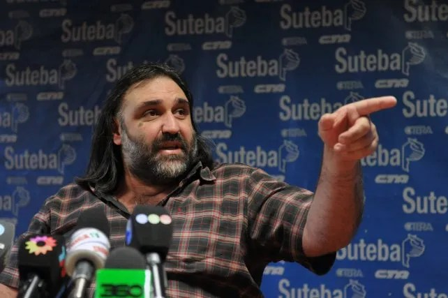 RobertoBaradel recibió la amenaza después que el presidente Macri dijo que el sindicalista no necesita que nadie lo cuide. Foto Internet.