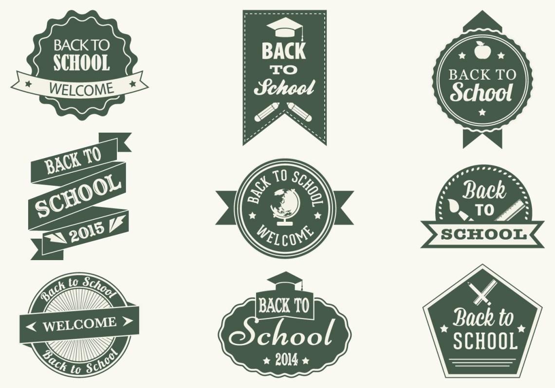 Download Vintage Back to School Label Vector Pack - Download Free ...