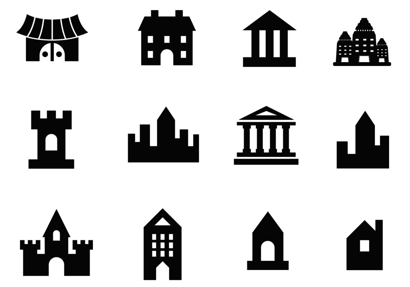 Building Vector And Architecture Vector Pack