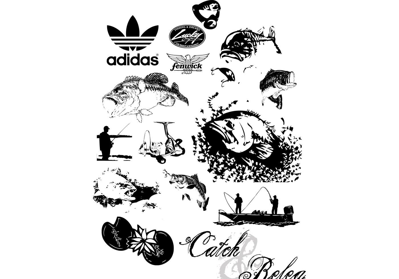 Bass Fishing Vectors