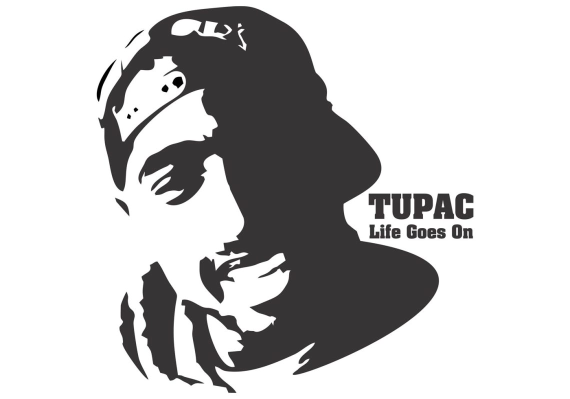 tupac shakur t shirt design vector Fashion Silhouette