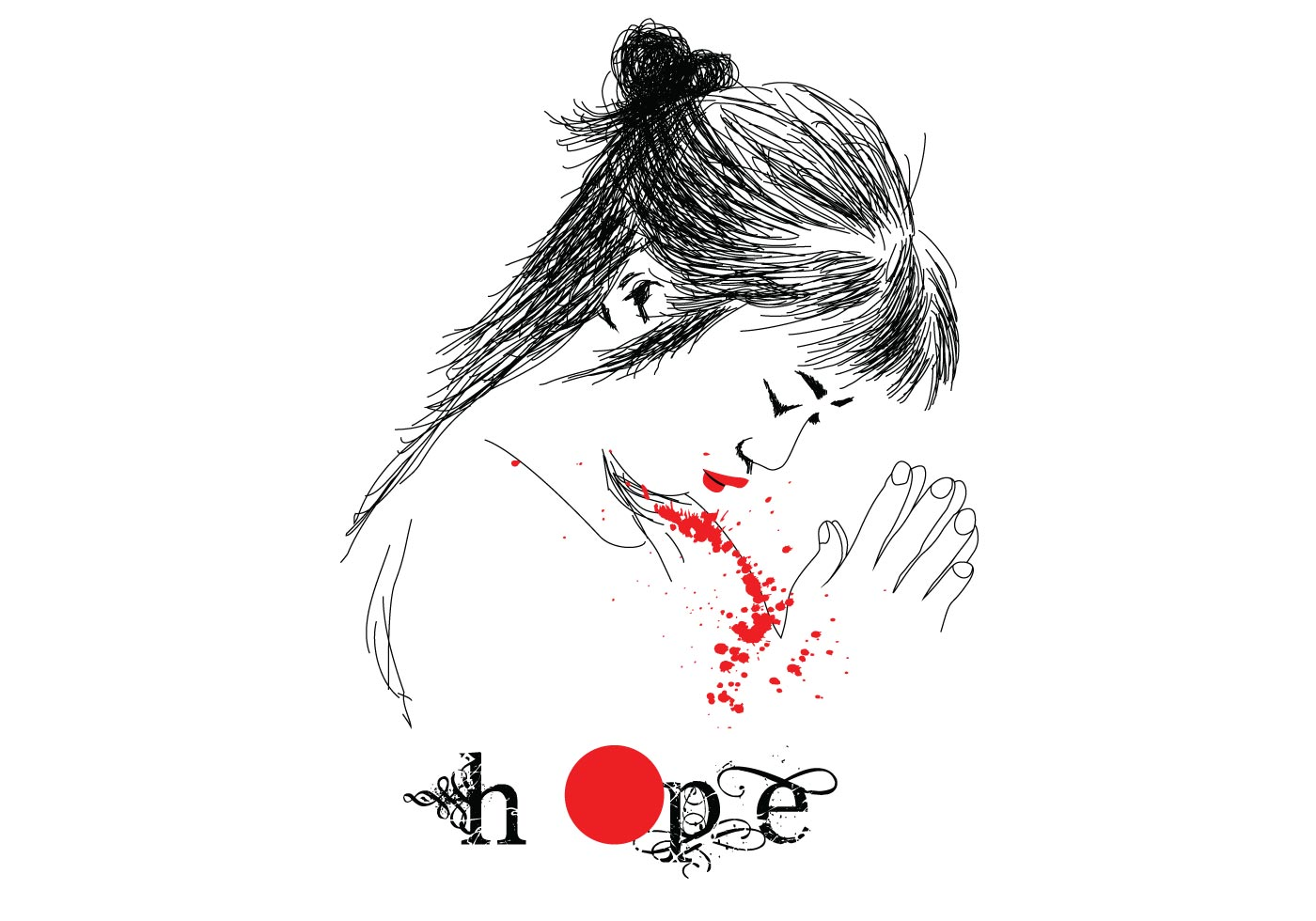 Free Pray For Japan Vector