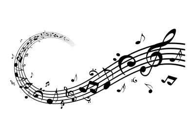 The image above shows music notes.