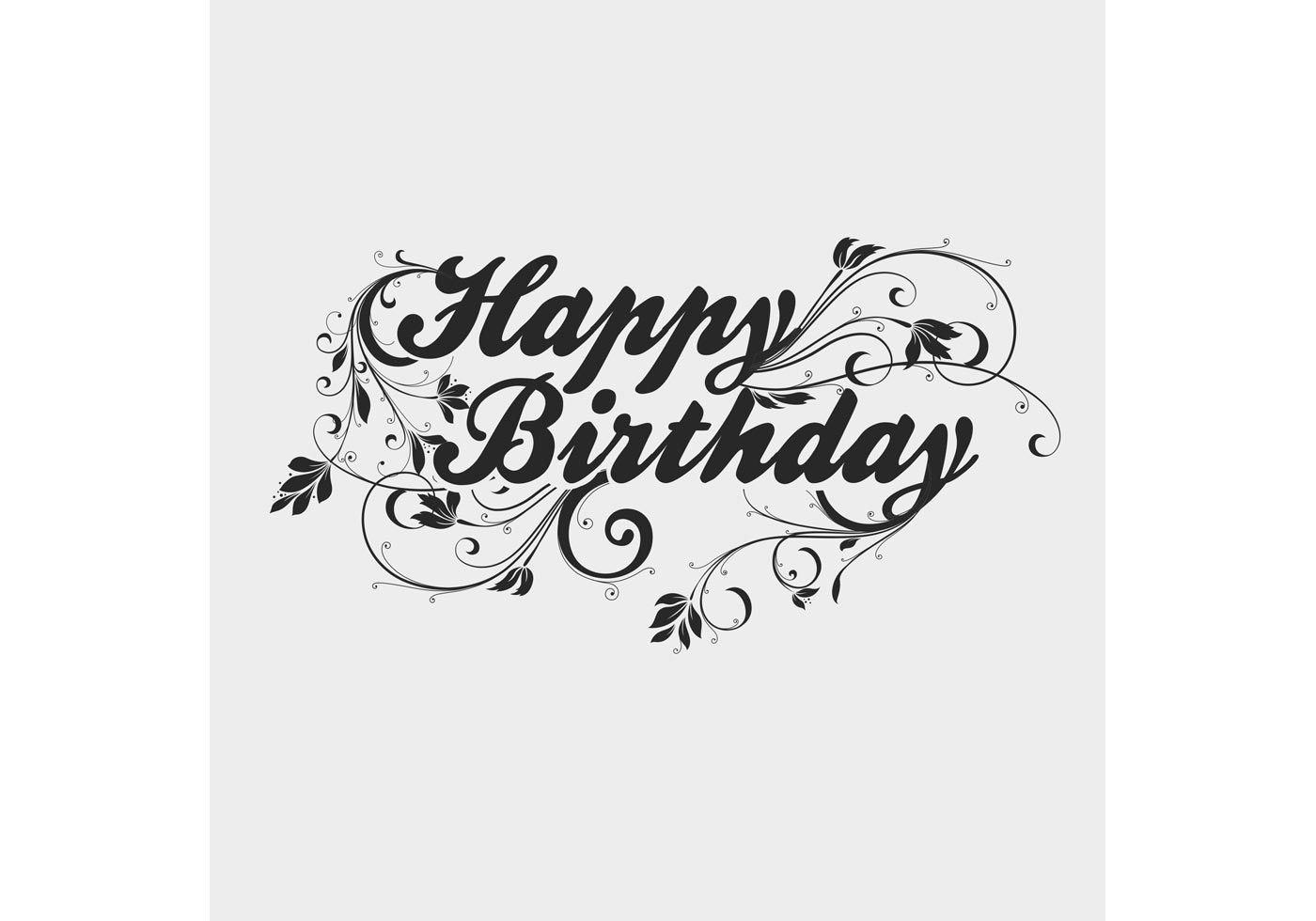 Free Vector Of The Day 196 Happy Birthday Type