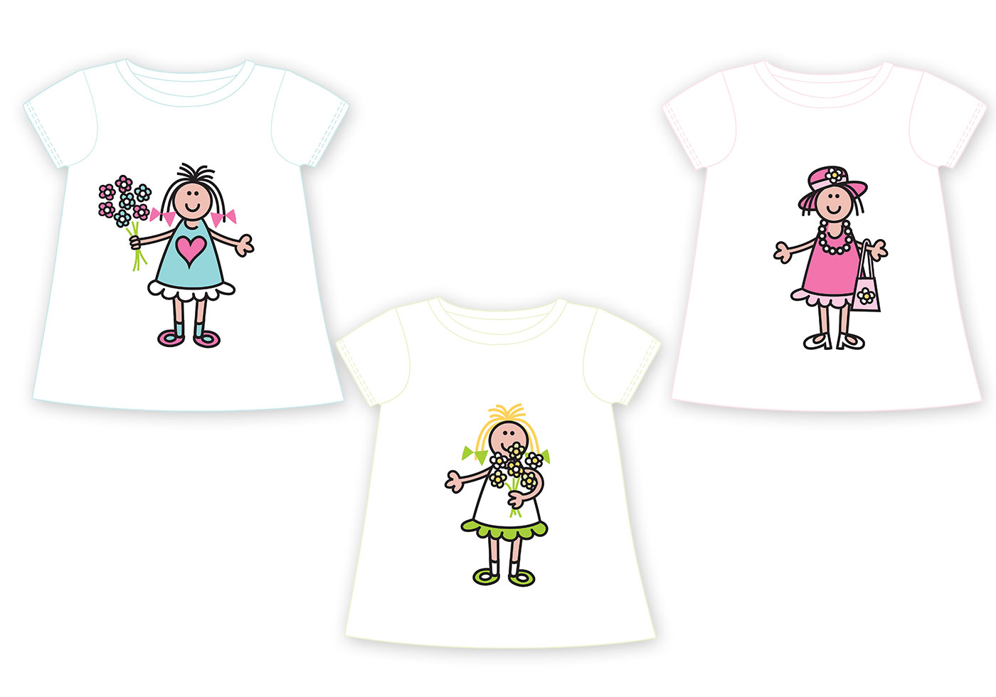 Kids T Shirt Vector Pack