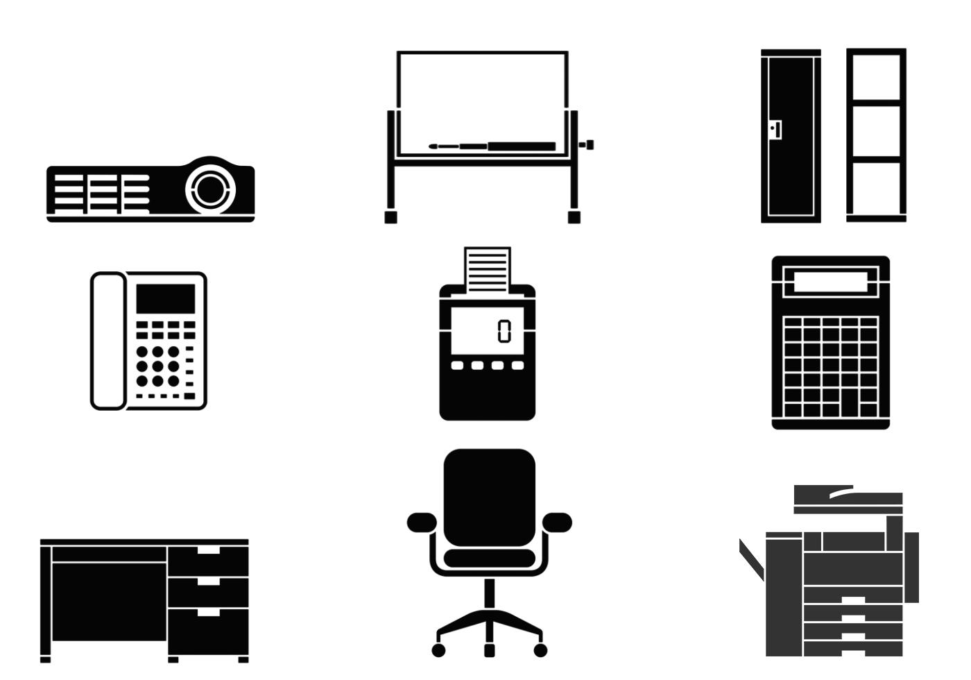Office Equipment Vector Pack
