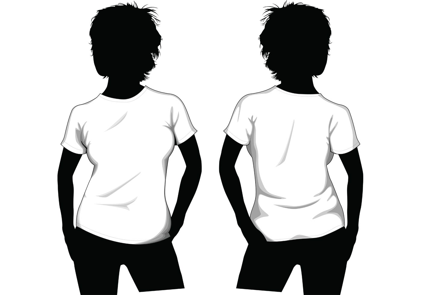 Girl T Shirt Template