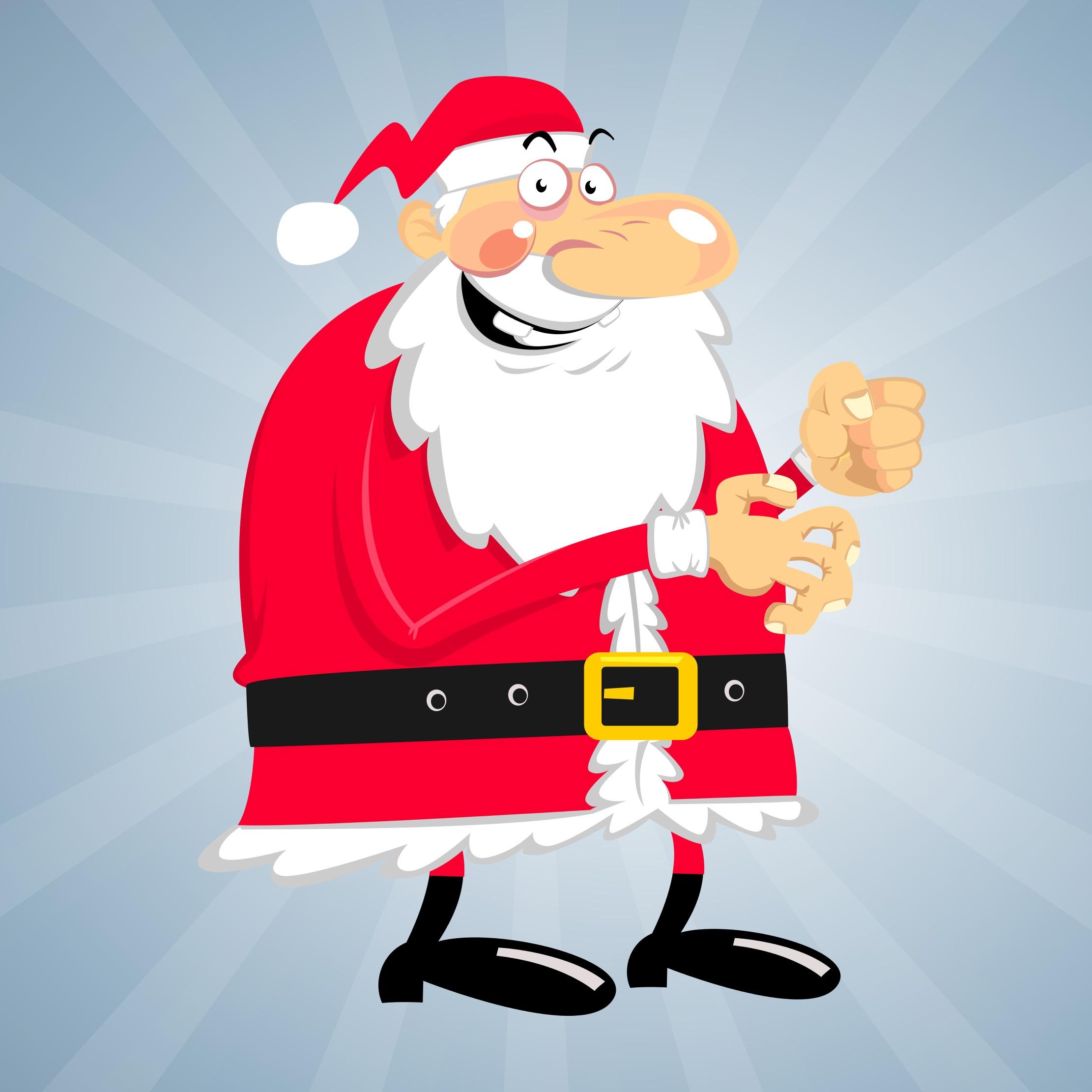 Crazy Santa Vector Download Free Vector Art Stock