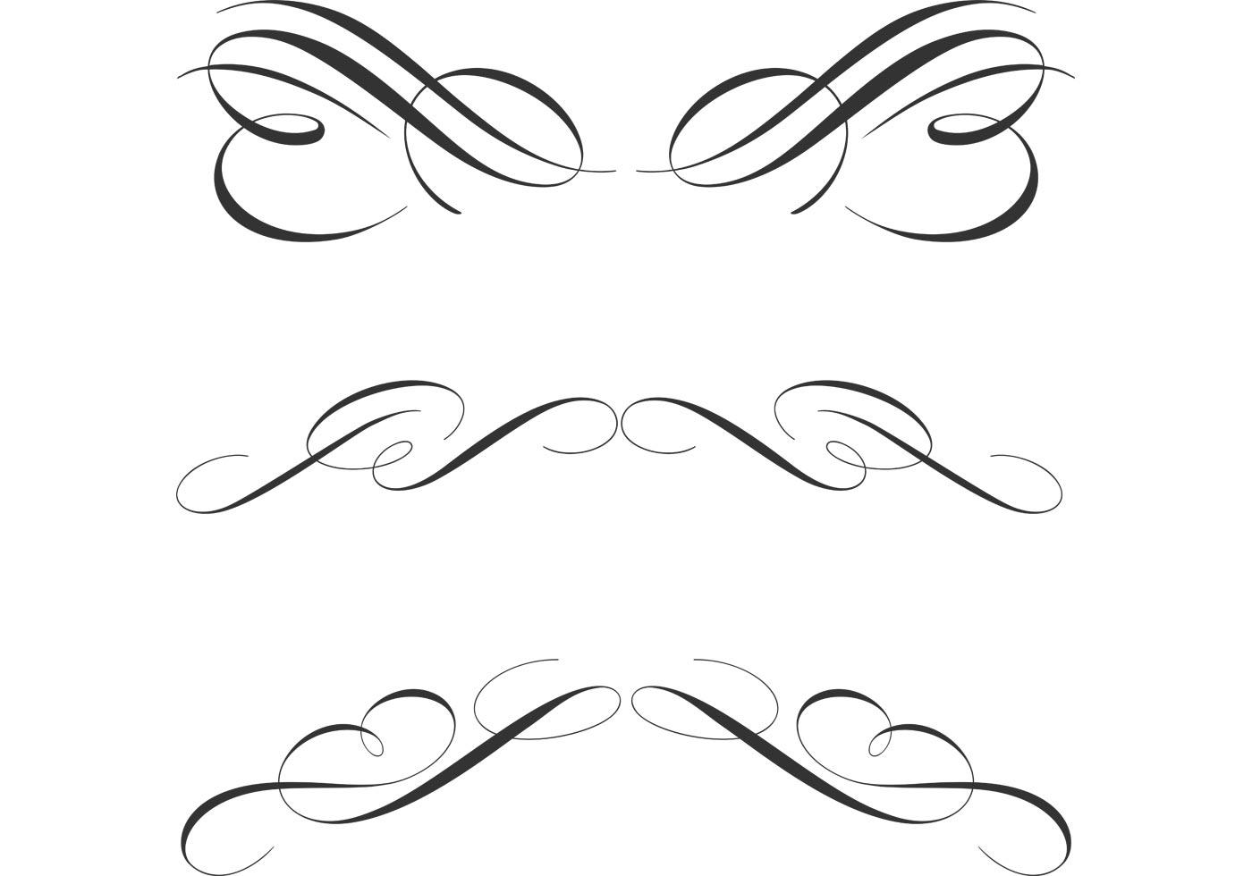 Free Calligraphic Ornament Vectors