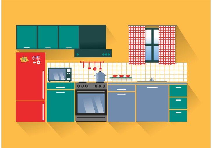 Modern Kitchen Vector Art Stock Graphics