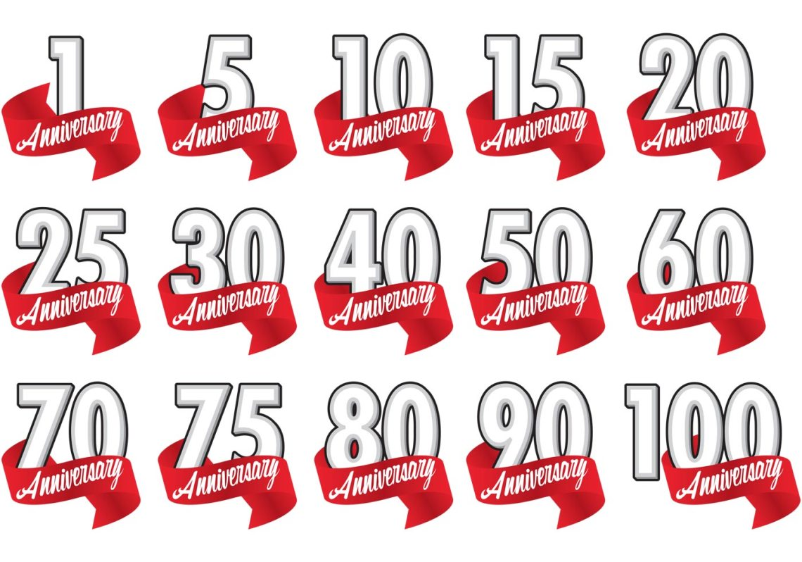 Download Red Ribbon Anniversary Badge Vectors - Download Free ...