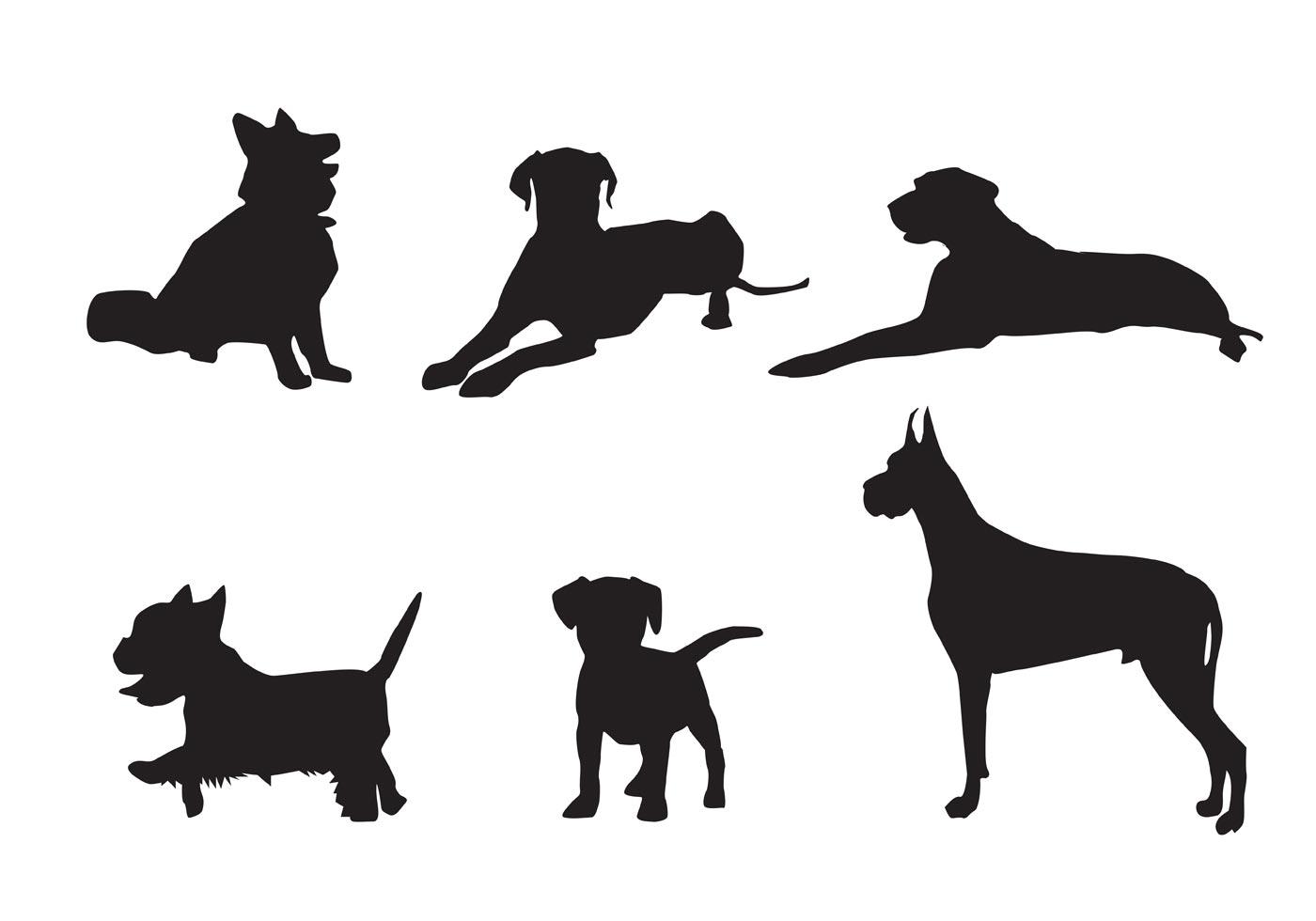 Free Vector Dog Silhouette Vectors