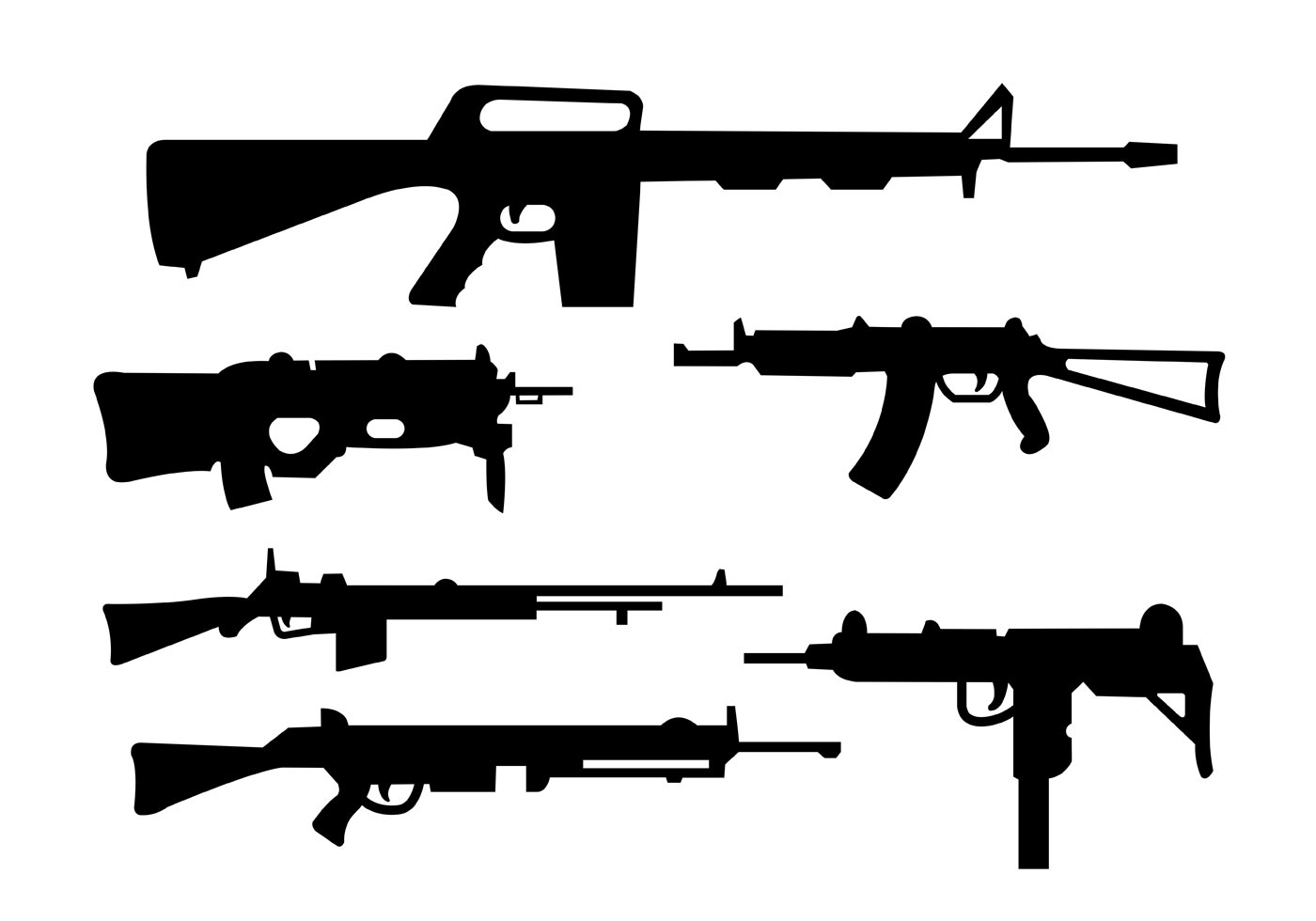 Collection Of Rifles And Gun Shapes