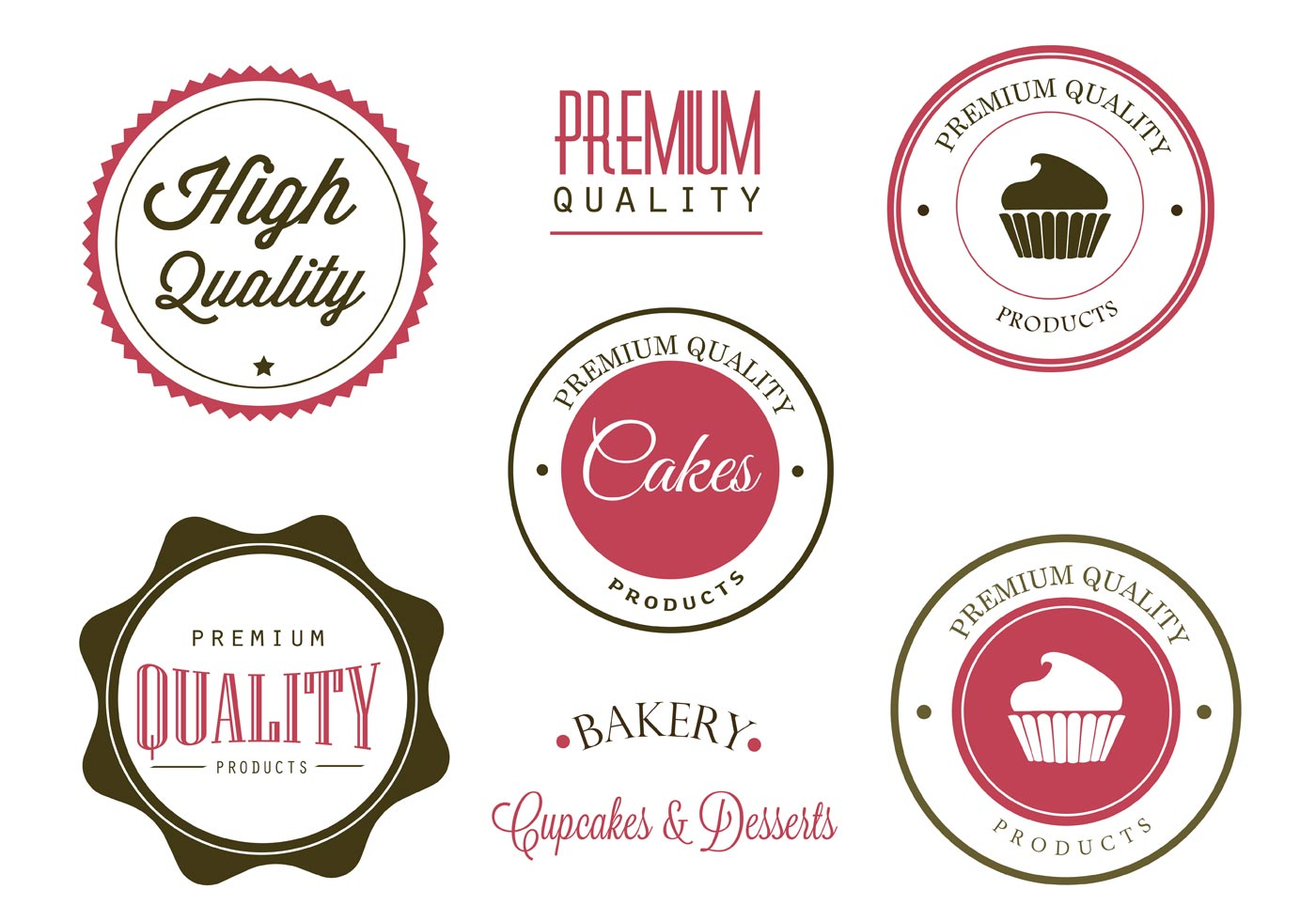 Free Bakery Labels And Logo Vectors Download Free Vector