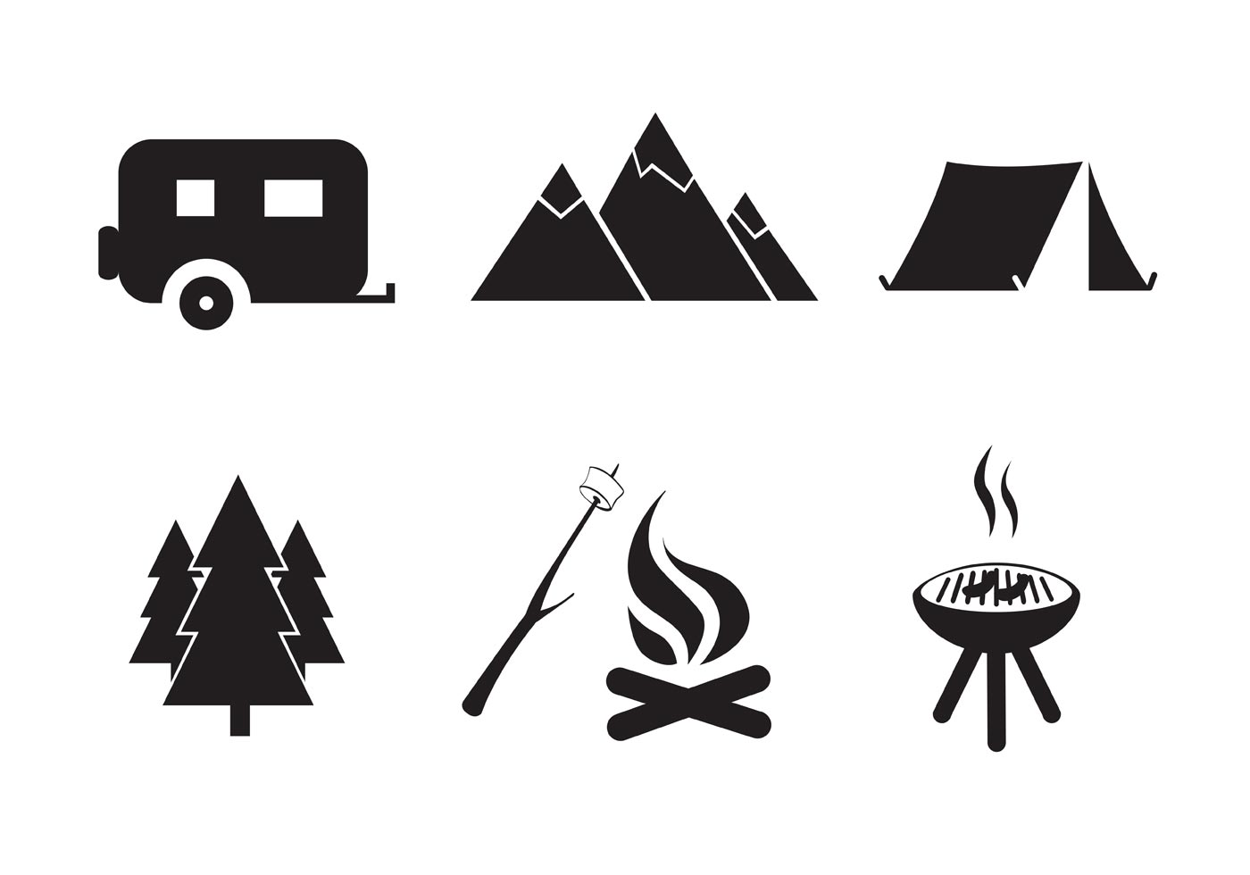Camp Fire Free Vector Art