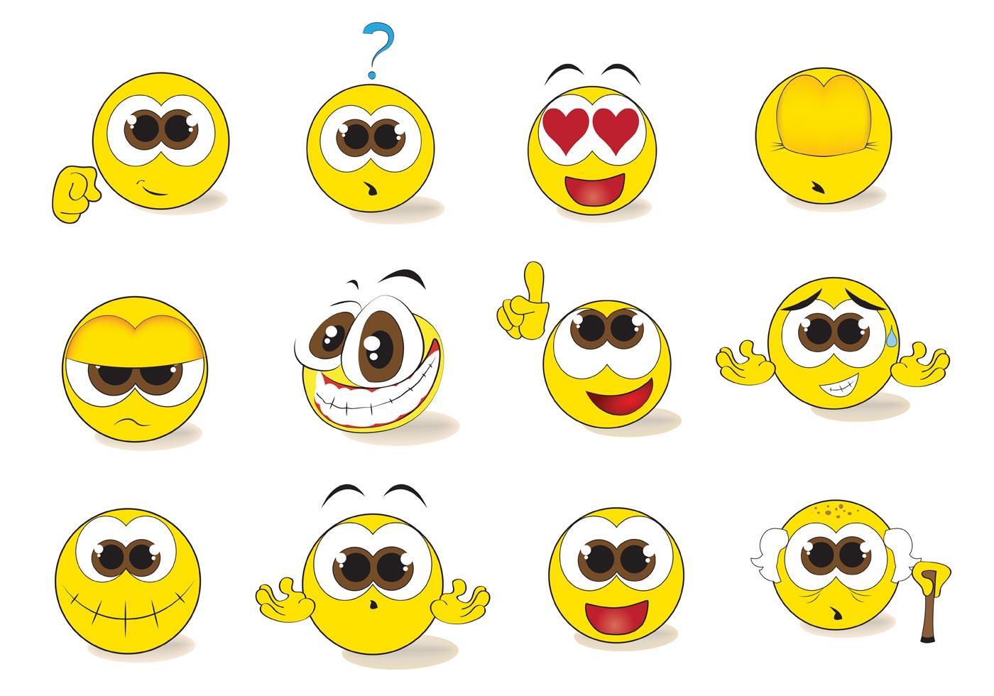 Free Smiley Emoticon Vector Set 84142 Vector Art At Vecteezy