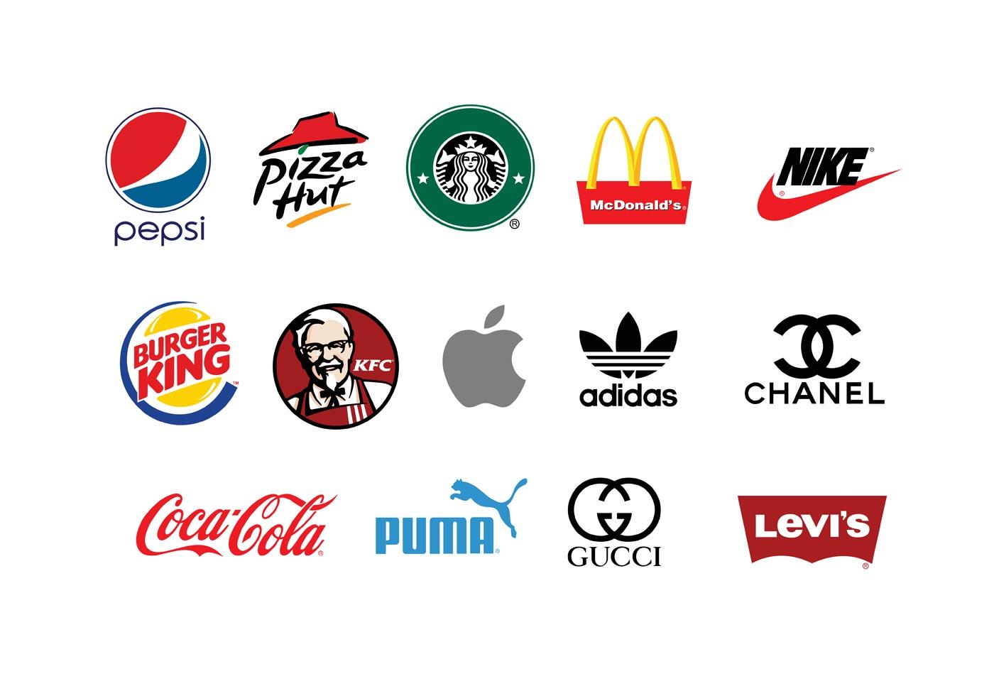 Спортивные бренды логотипы на одной картинке