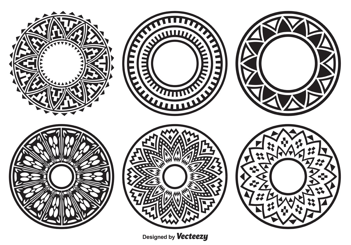 Decorated Circle Shapes