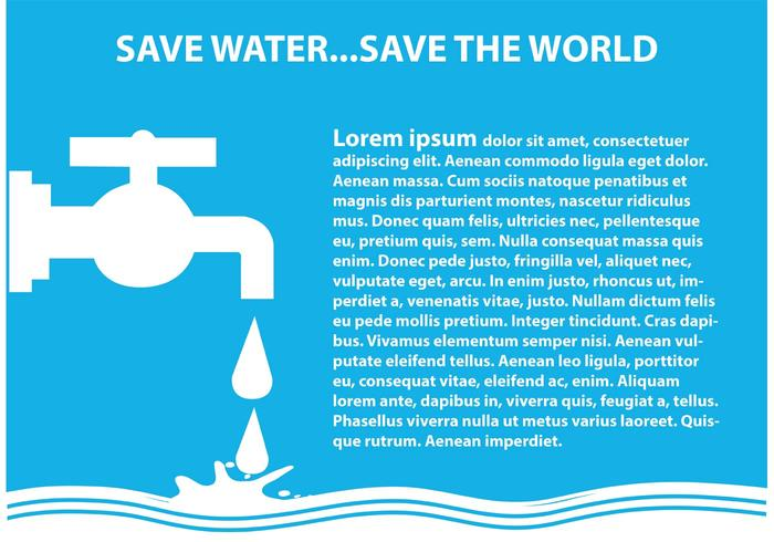 Save Water Illustration Download Free Vectors Clipart Graphics Vector Art
