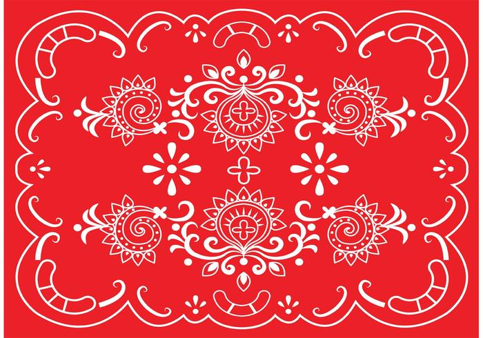 Gold Border And Red Swirl