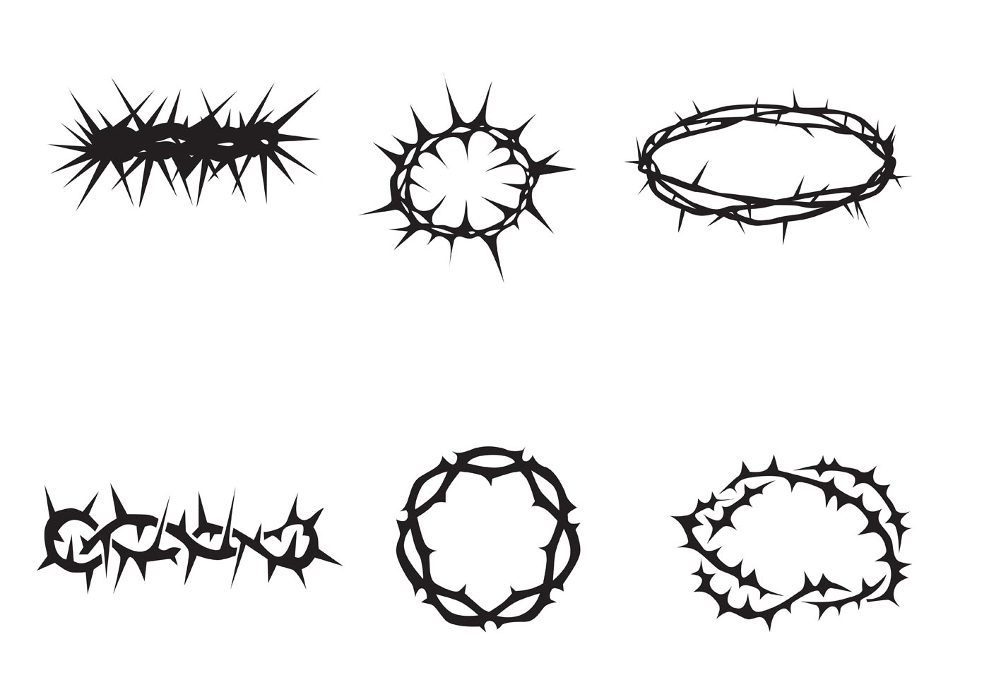 Free Vector Crown Of Thorns