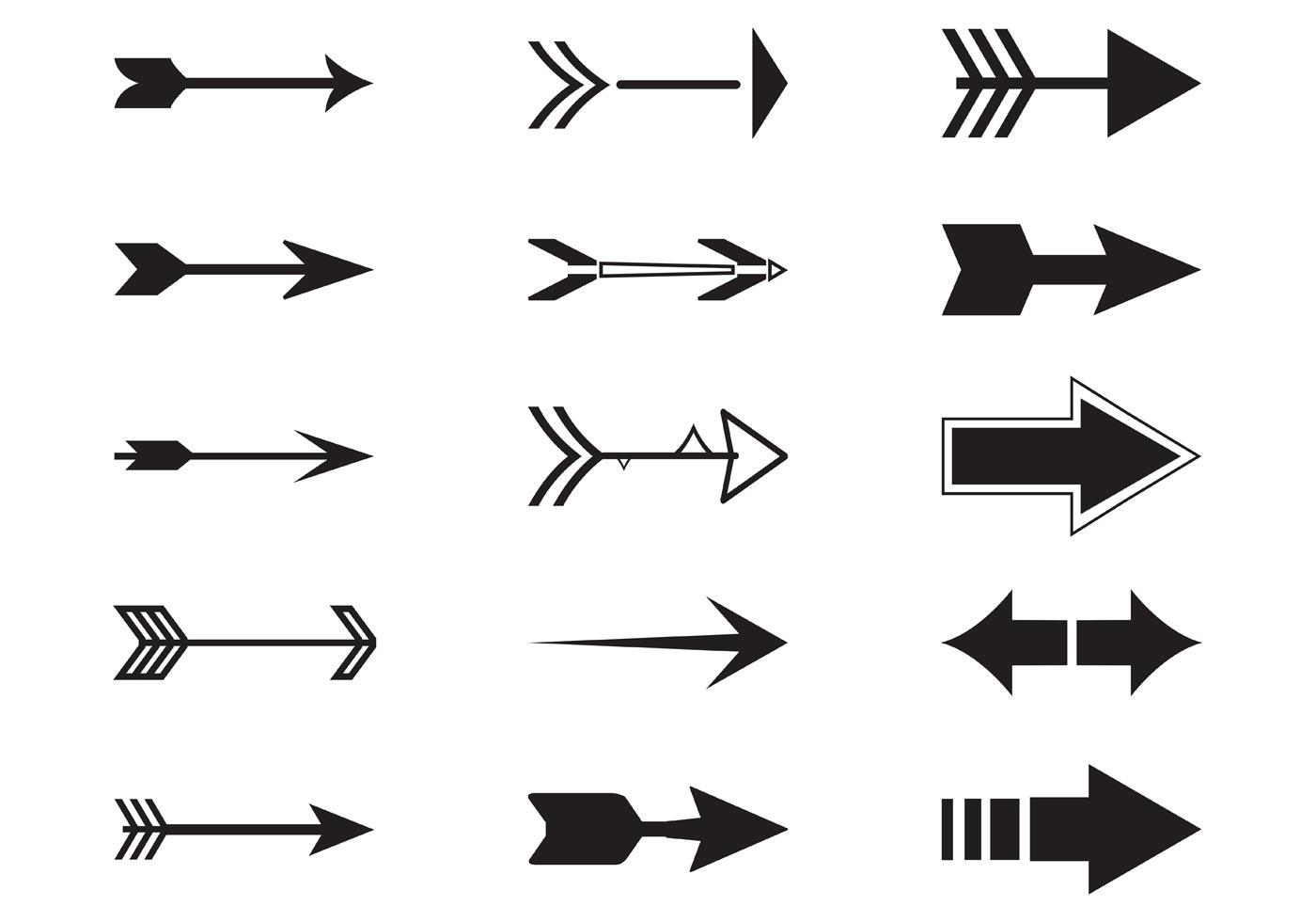 Black Arrow Free Vector Art