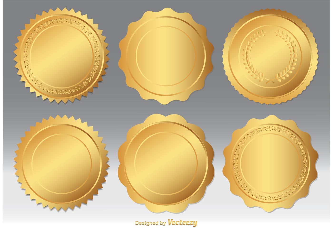 Gold Seal Vector Set Download Free Vector Art Stock