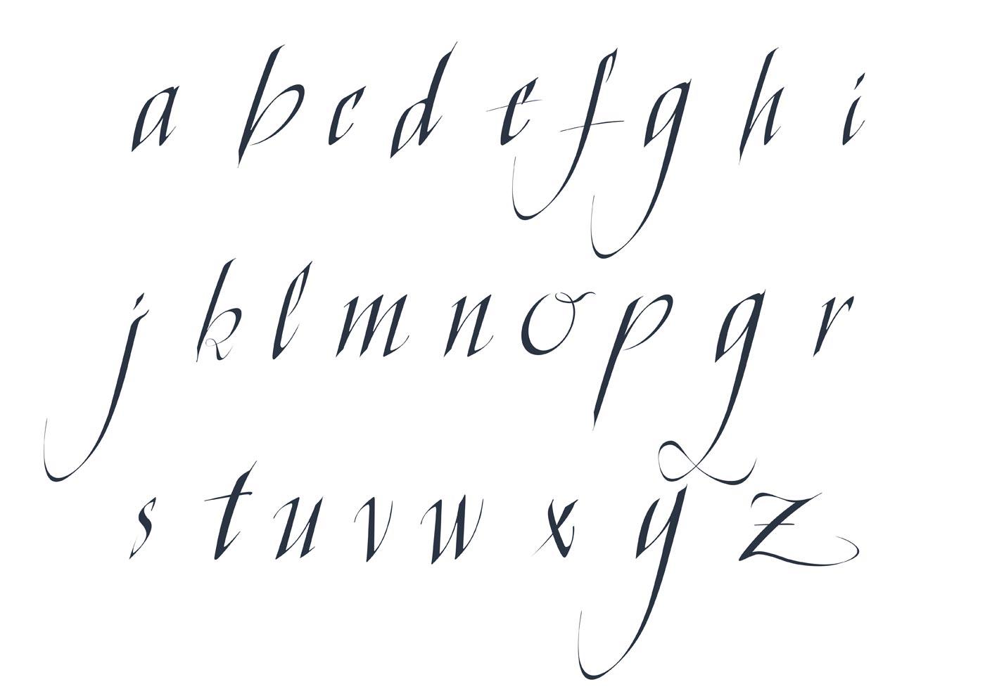 Free Vector Fancy Letter Alphabet Pack
