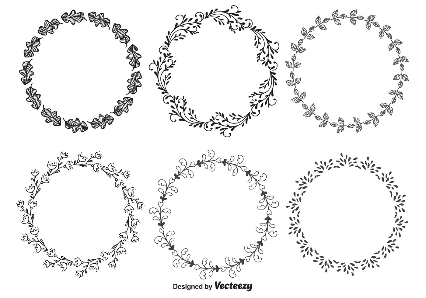 Decorative Oval Frames Vectors