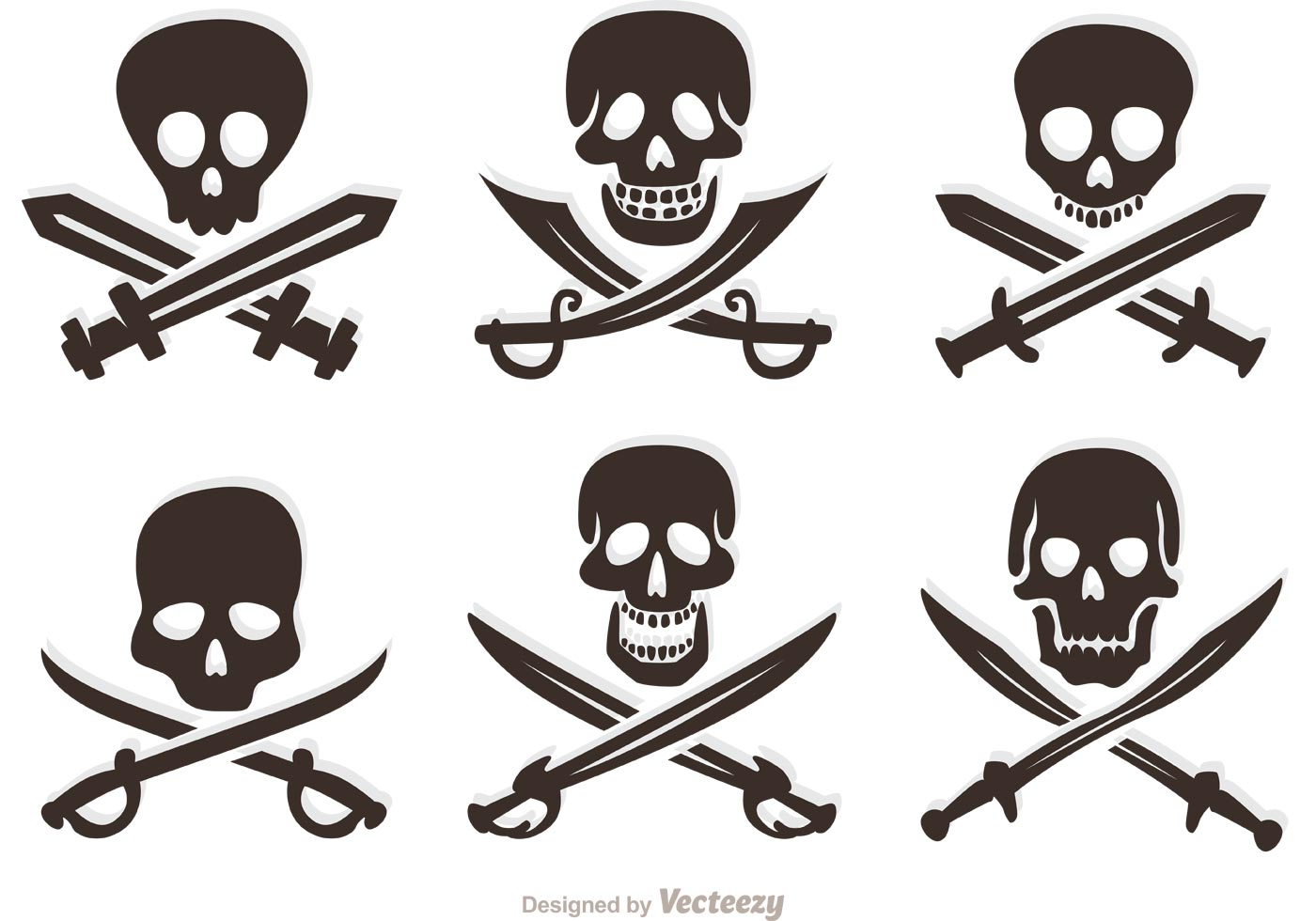 Pirate Skull Cross Bones Free Vector Art 561 Free Downloads