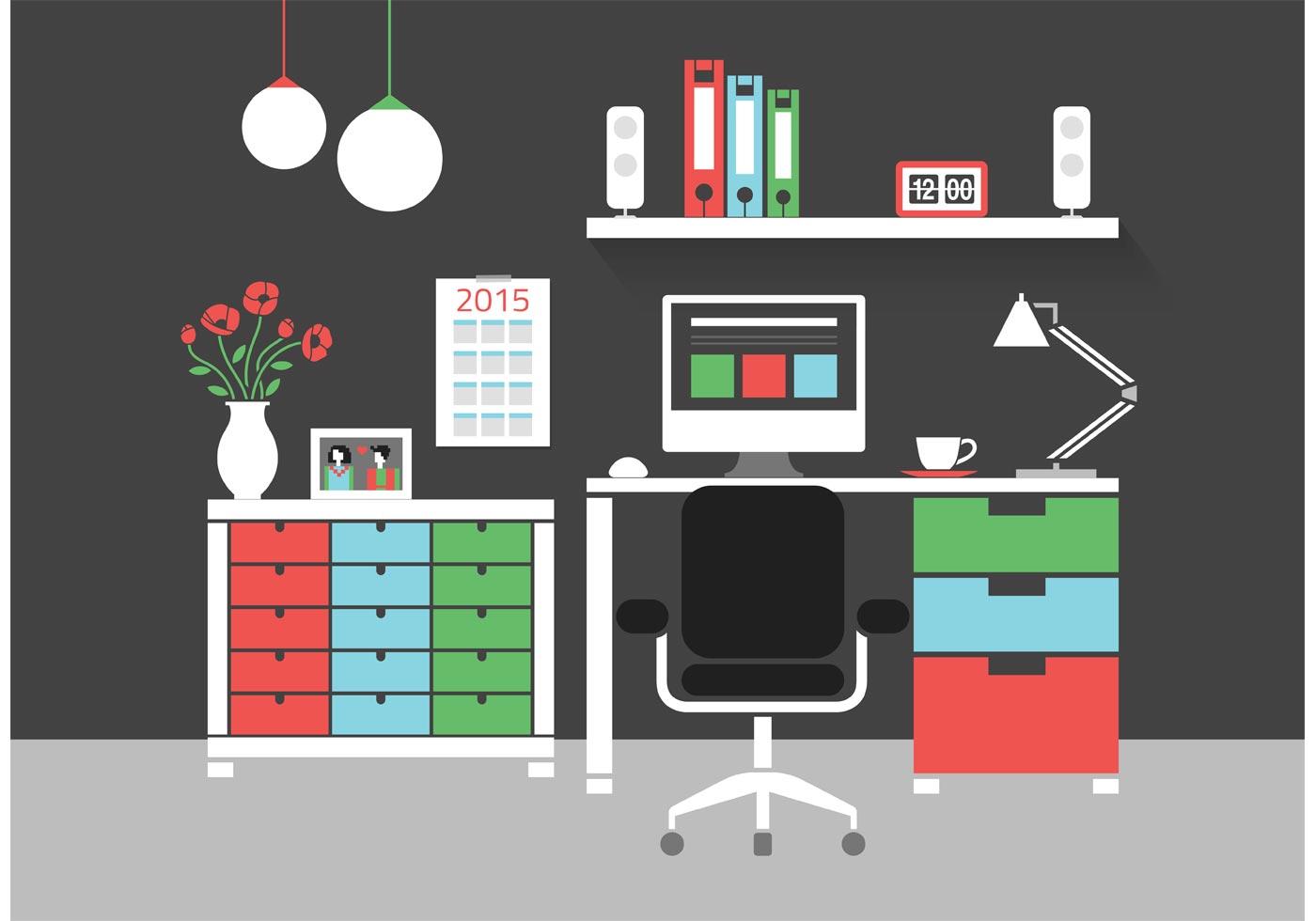 Design For Office Table Temblor En
