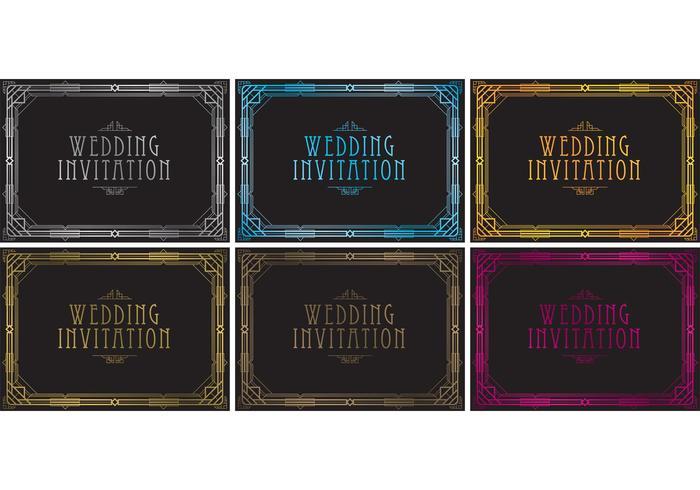 20 S Wedding Invitation Vectors