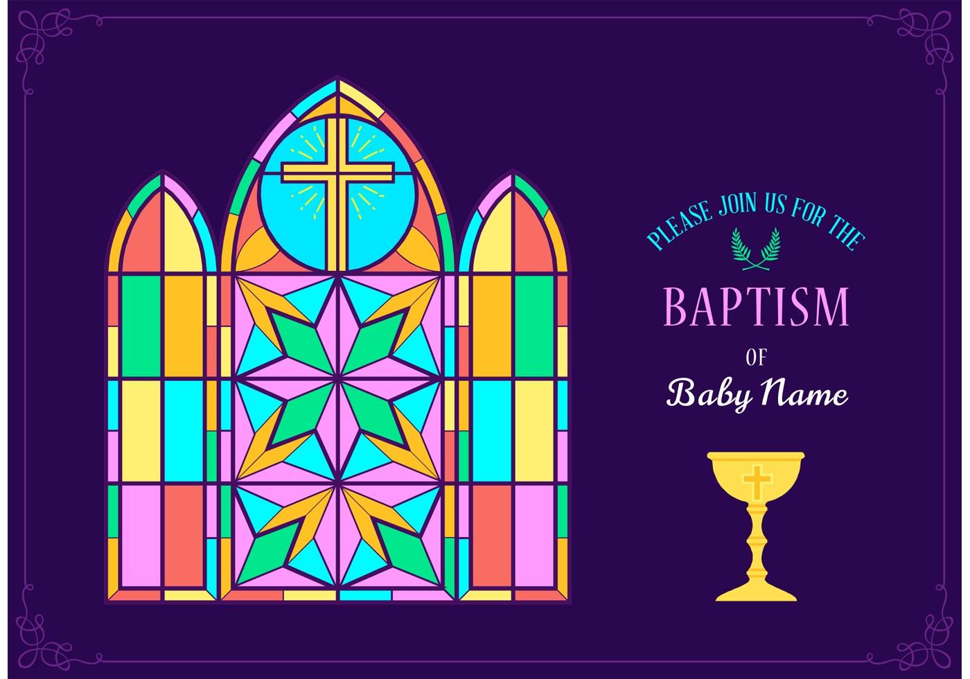 Cute Invitation Christening