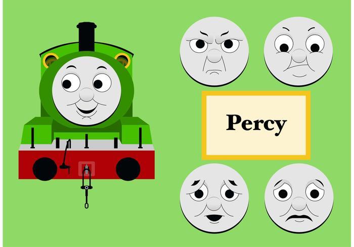 Thomas Train Face Template