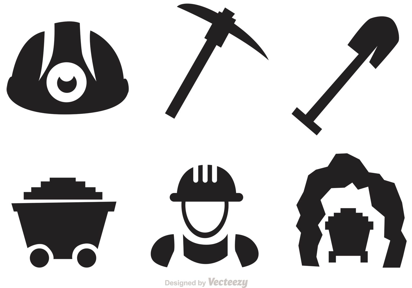 Set Of Mining Icons Vectors