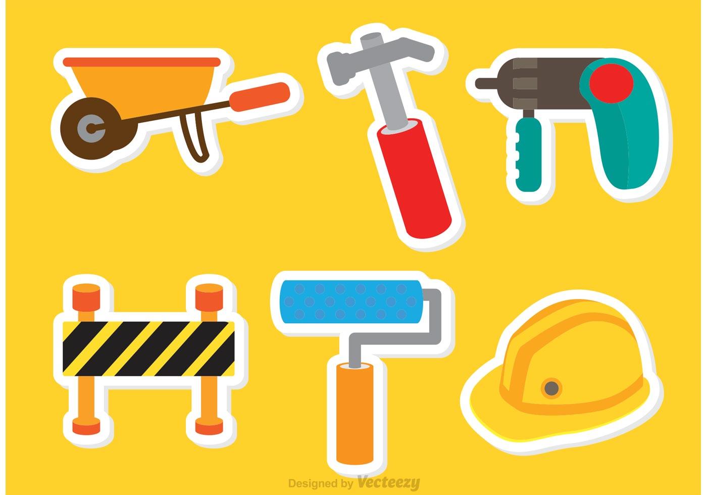 Architecture Tools Sticker Vectors Download Free Vectors