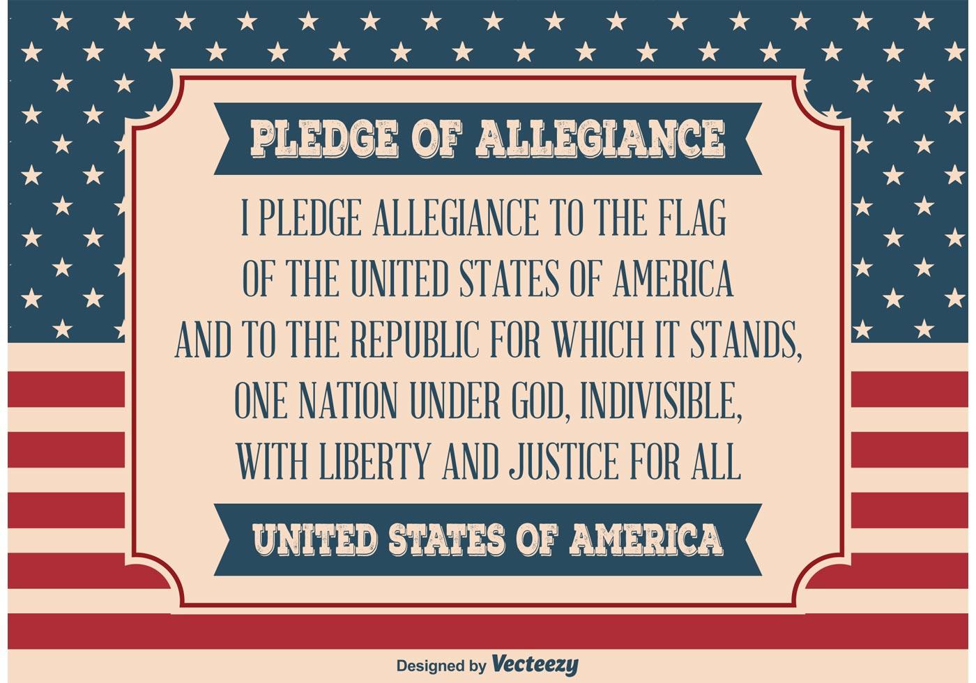 Pledge Of Allegiance Illustration