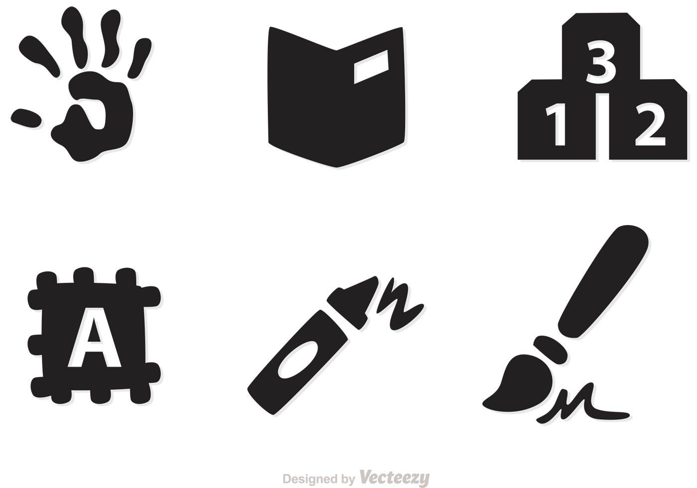 Preschool Icons Vectors Download Free Vector Art Stock