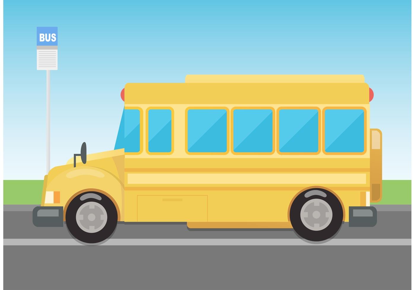 Vector School Bus Download Free Vector Art Stock