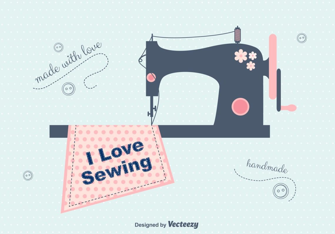 Download I Love Sewing Vector Background - Download Free Vector Art ...