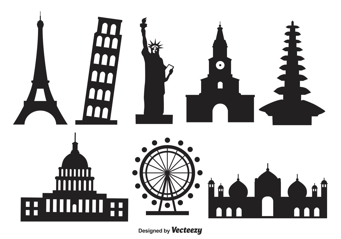 Famous Monument Vector Shapes