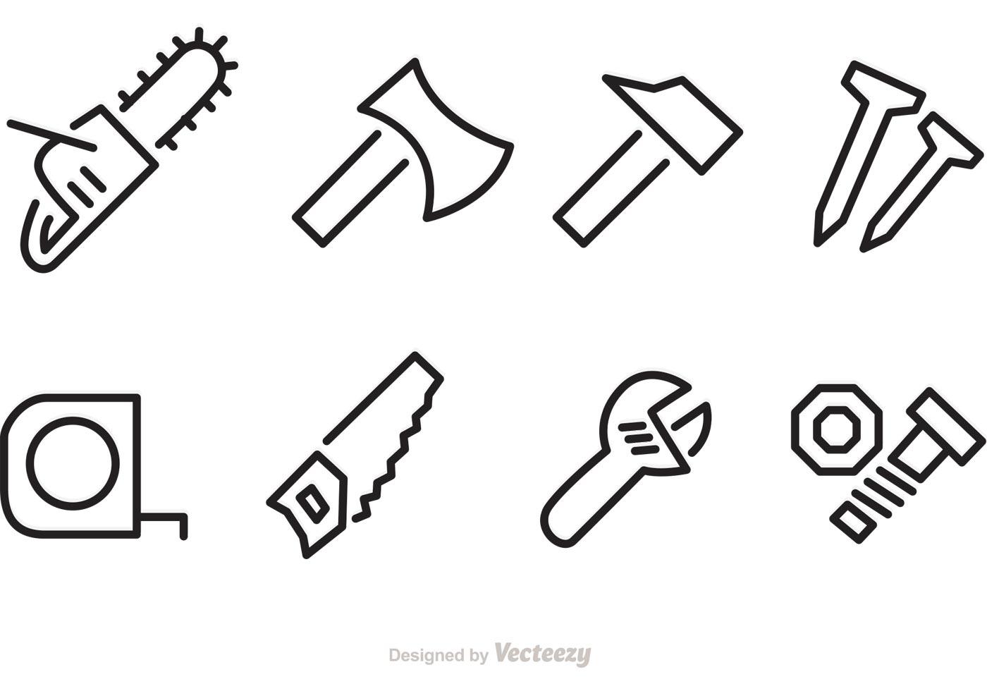Contruction Tools Repair Vector Icons