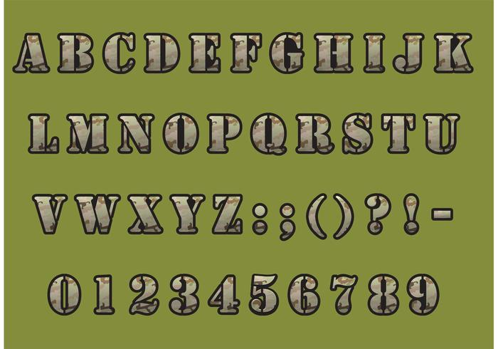 Download Camouflage Font Vector Pack - Download Free Vector Art ...