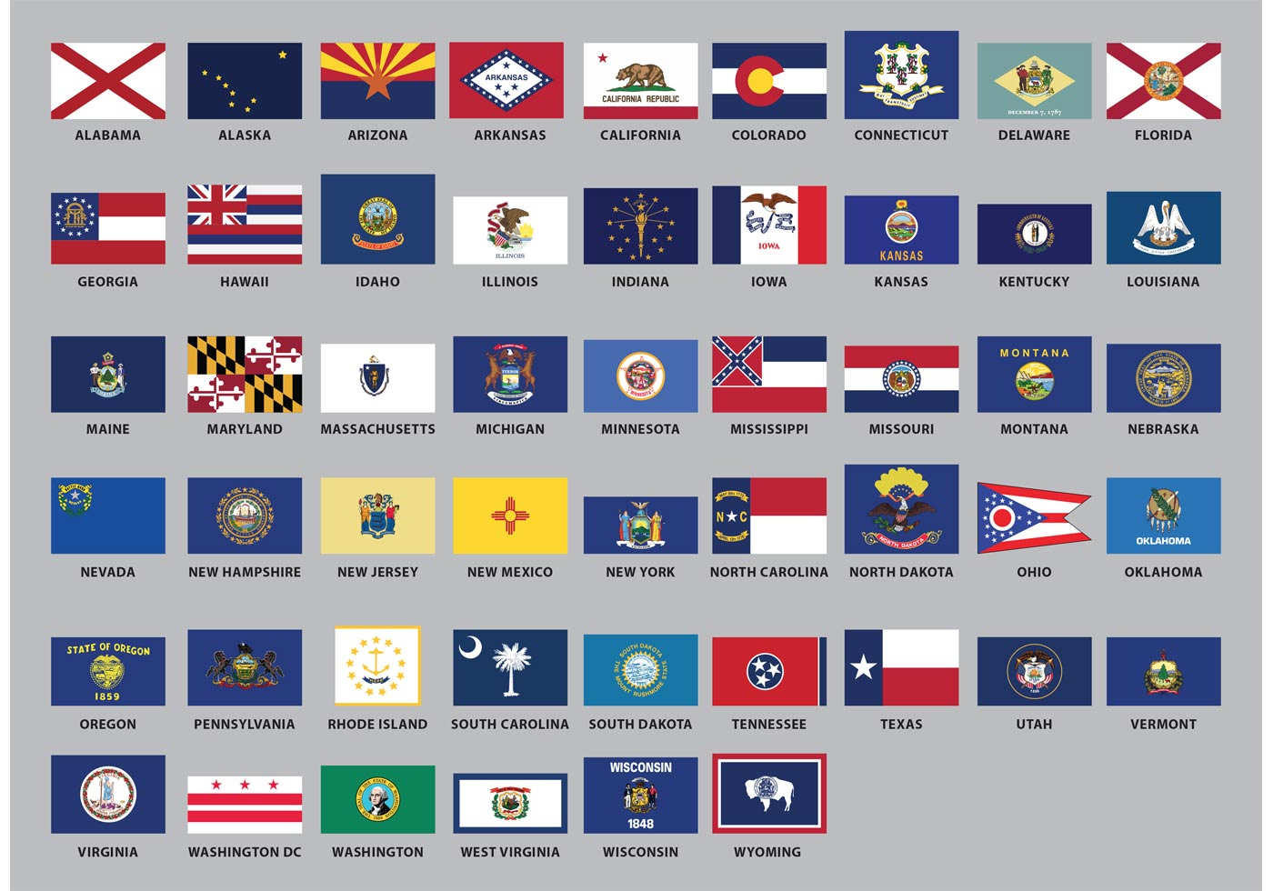 Us State Flag Vectors