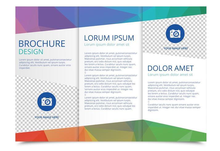 Tri Fold Brochure Vector Template Download Free Vectors