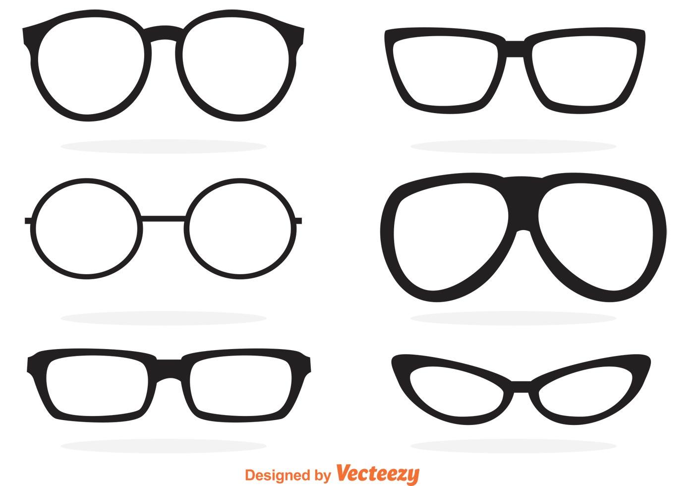 Glasses Free Vector Art