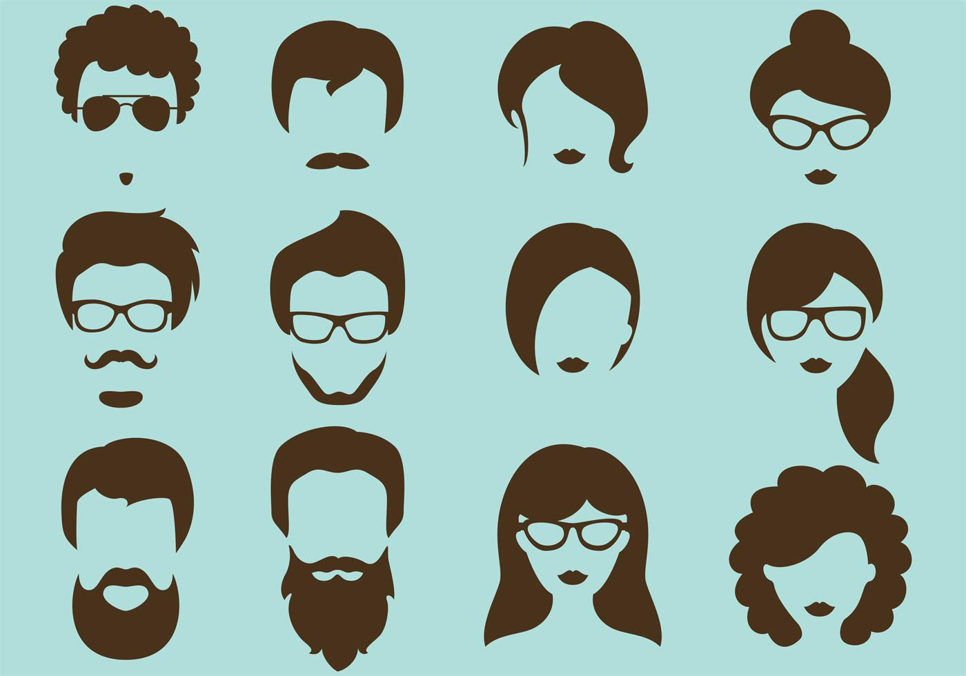 Hipster Vector Silhouettes Download Free Vector Art