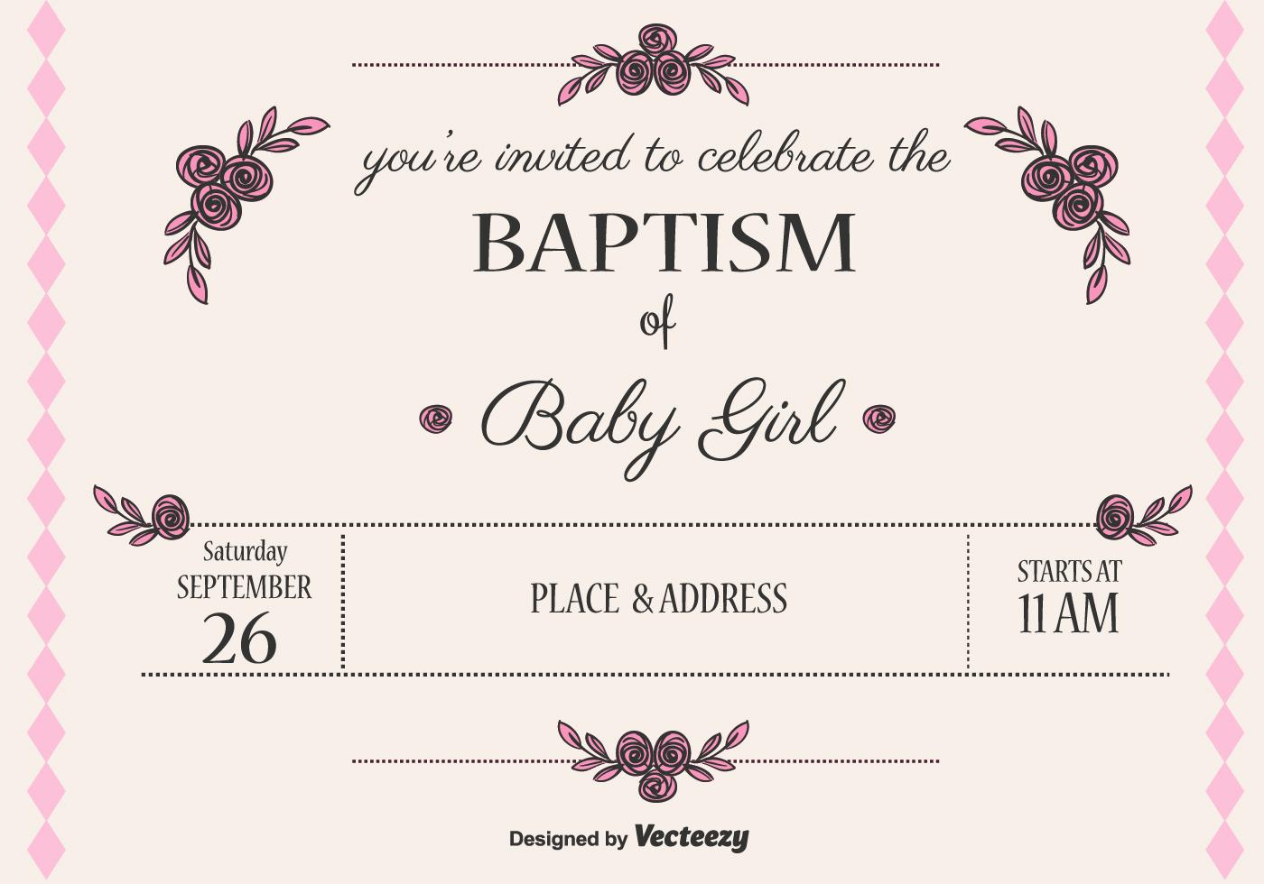 Cute Invitation Card Christening