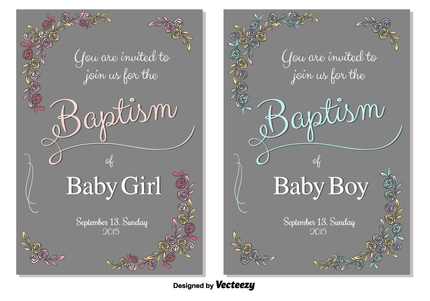 Baptism Vector Invitation Download Free Vector Art
